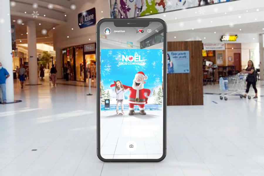 Photocall de réalité augmentée dans l'application Carrefour Jouets AR