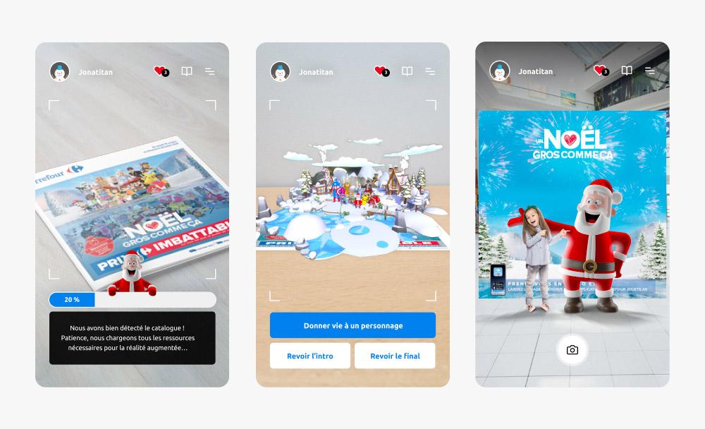 Expériences de réalité augmentée de l'application Carrefour Jouets AR