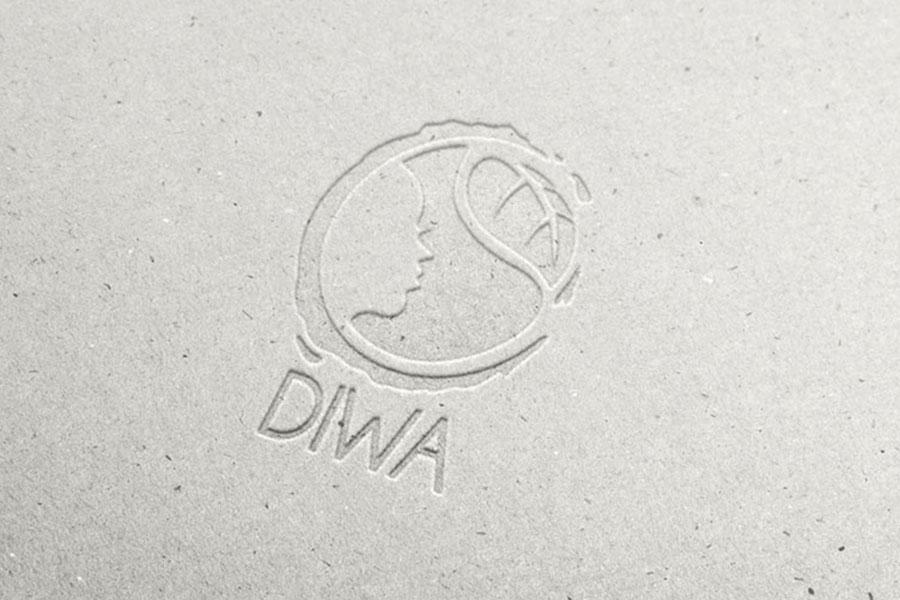 Logo et flyers de la marque Diwa, huiles essentielles
