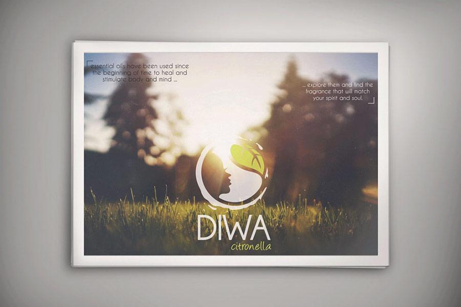 Flyers de la marque Diwa, huiles essentielles